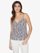 Sanctuary Essential Button Front Tank Leopard Print