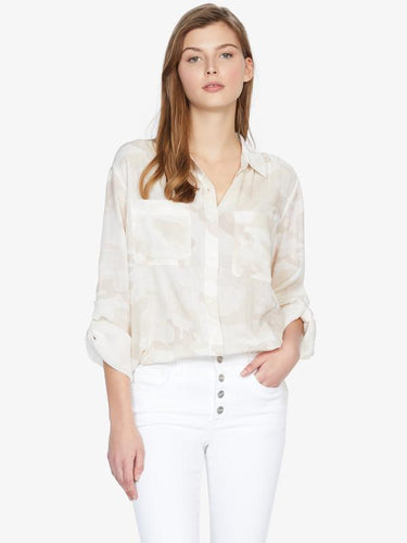 Sanctuary Waverly Boyfriend Shirt Sand Dune Camo