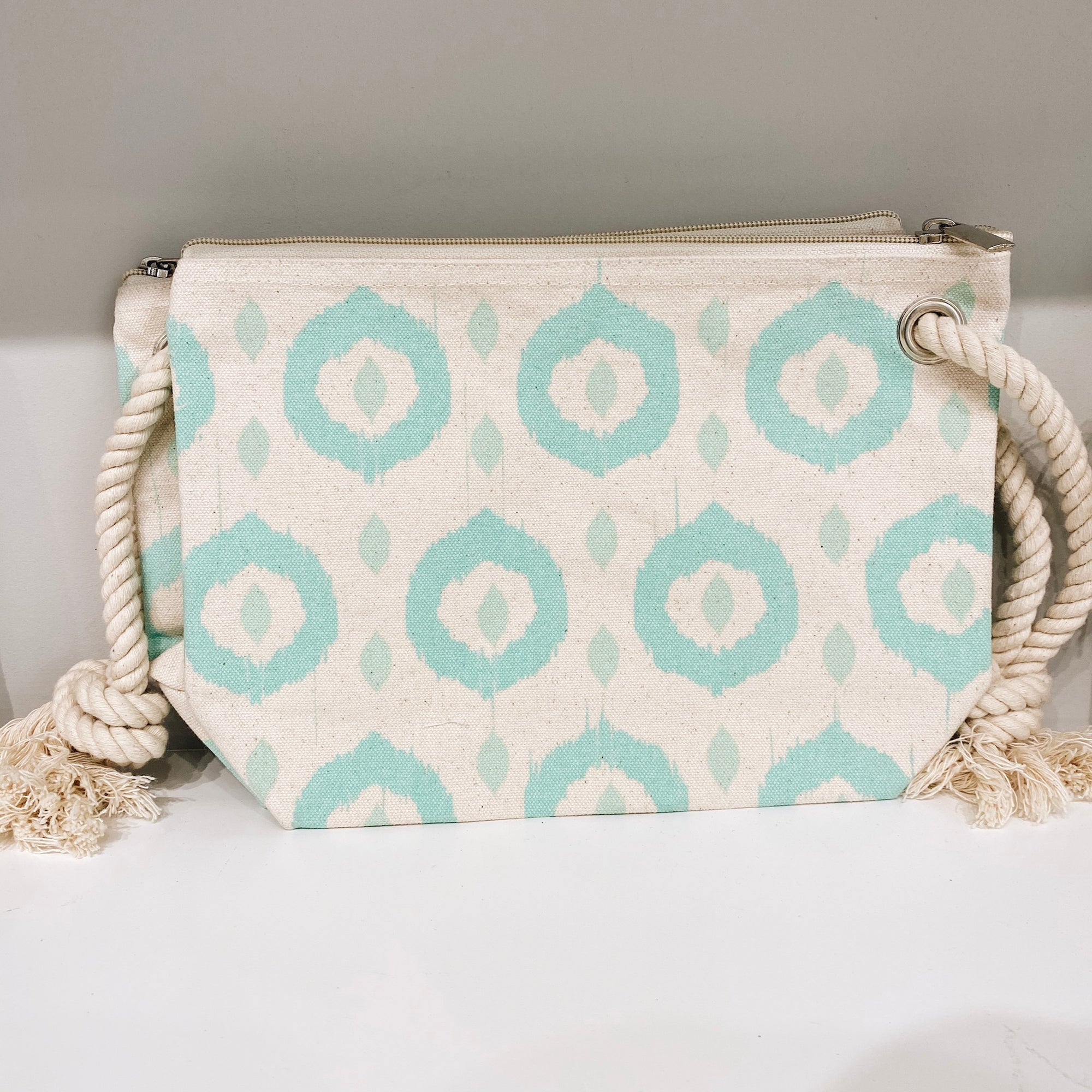 Mint Green Printed Clutch