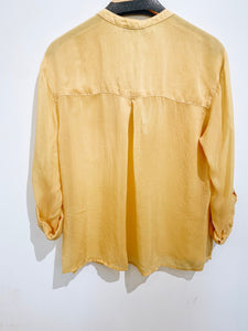 Maven West Yellow Pocket Blouse