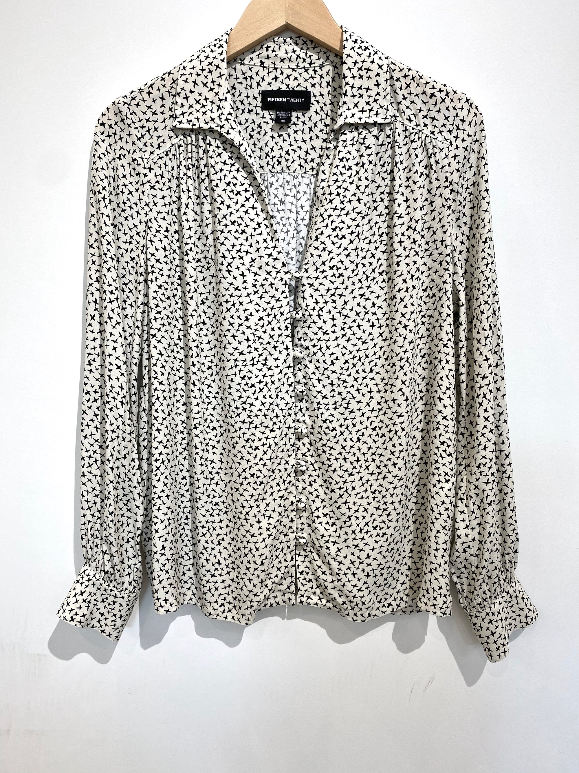 Fifteen Twenty Button Down Printed top