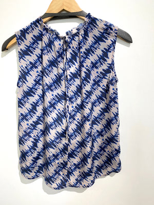 Velvet Blue Printed Top