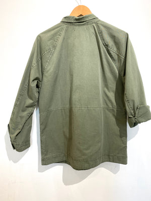 Velvet Army Green Jacket