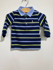 MAYORAL Stripped Green and Blue Polo