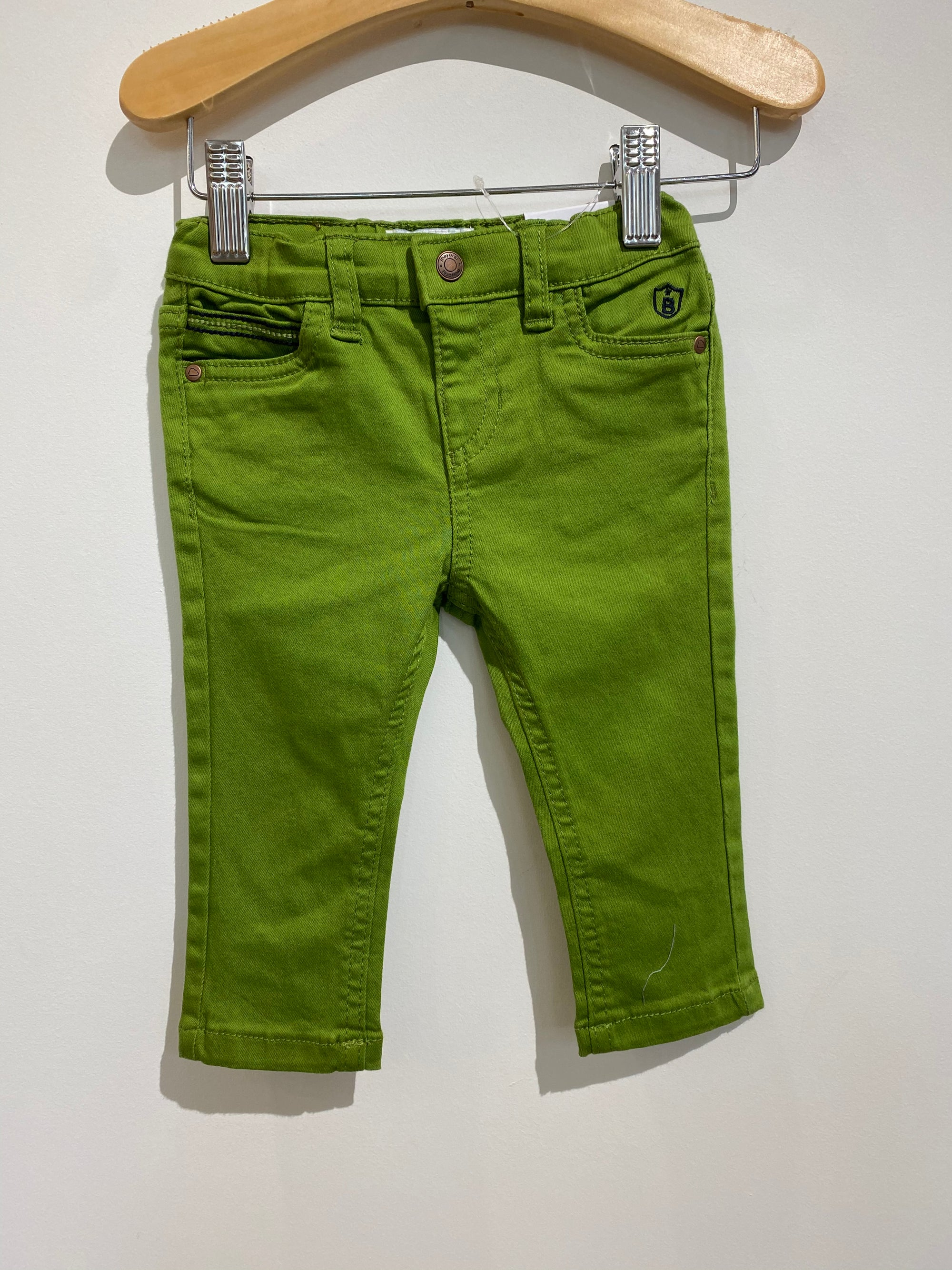 MAYORAL Green Slim Pants