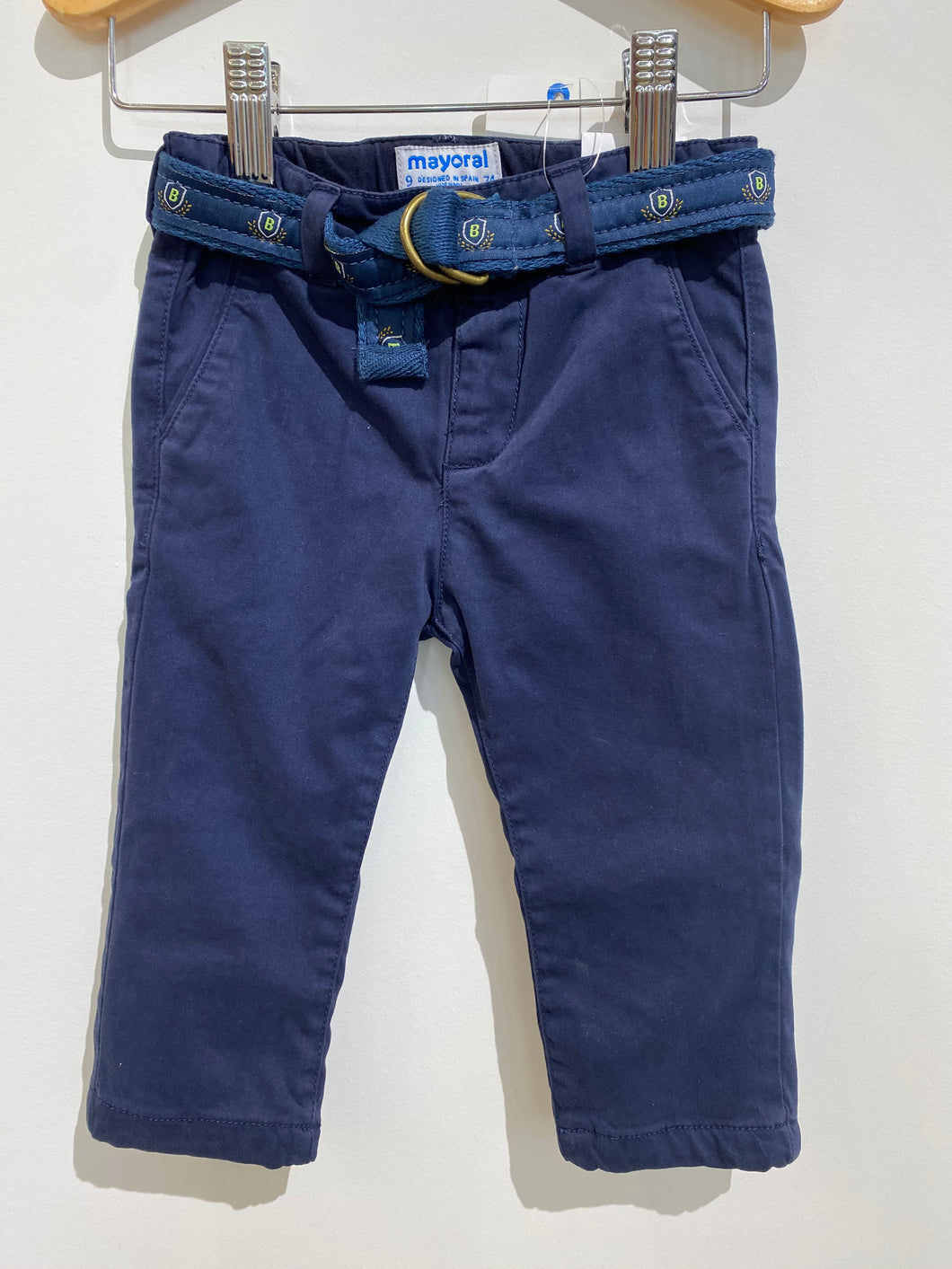 MAYORAL Navy Pants With Belt