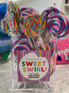 Sweet Swirl Fruit Scented Lollipop Eraser