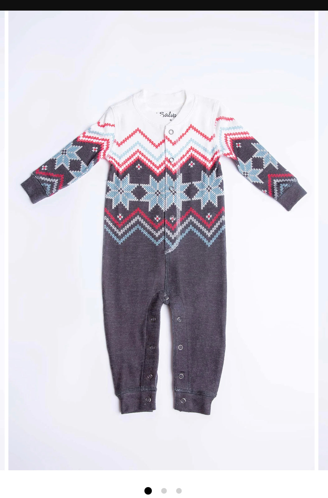 PJ Salvage Fair Isle Baby Romper