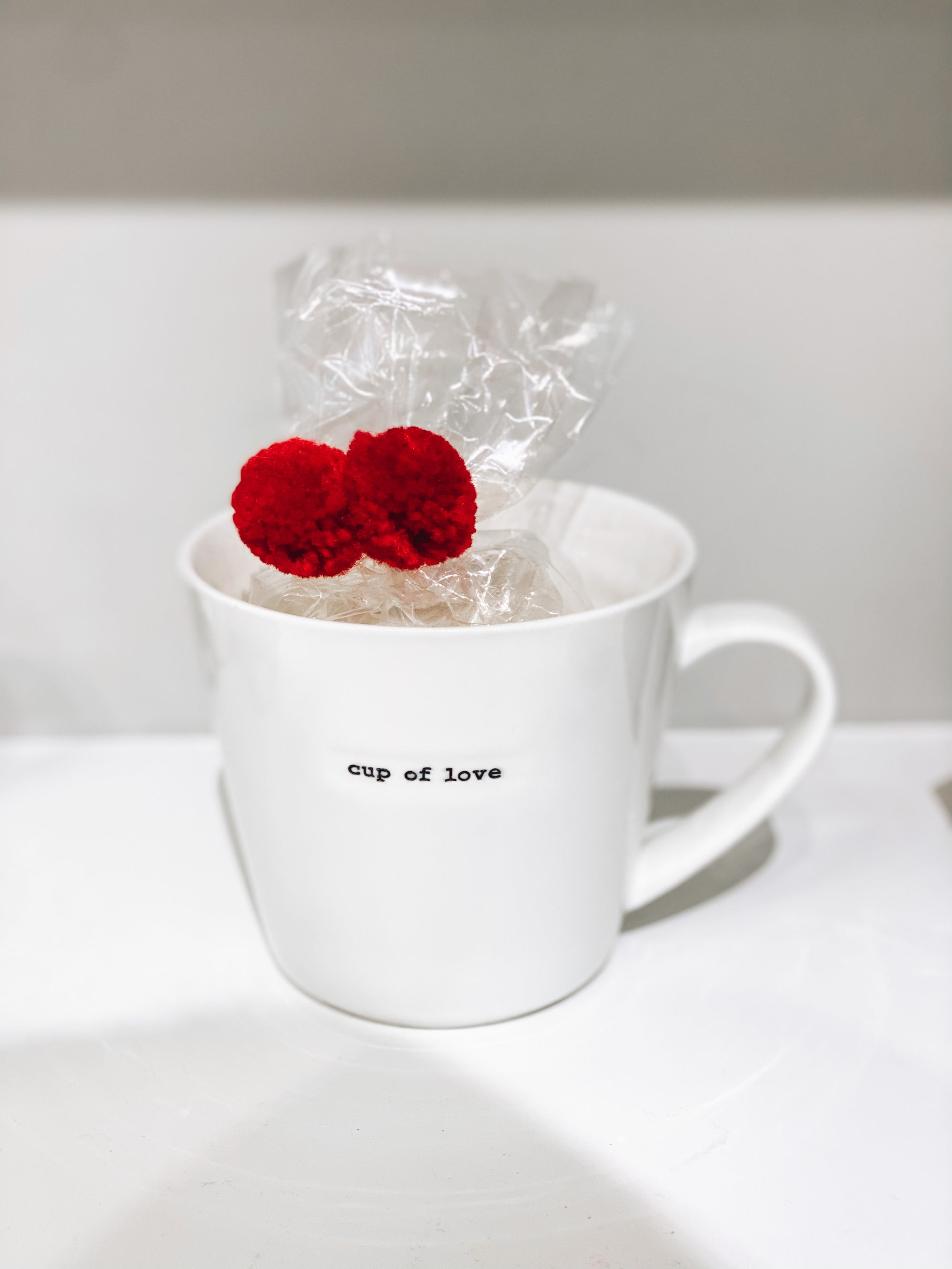 Coffee Mug with Festive Marshmallow Package