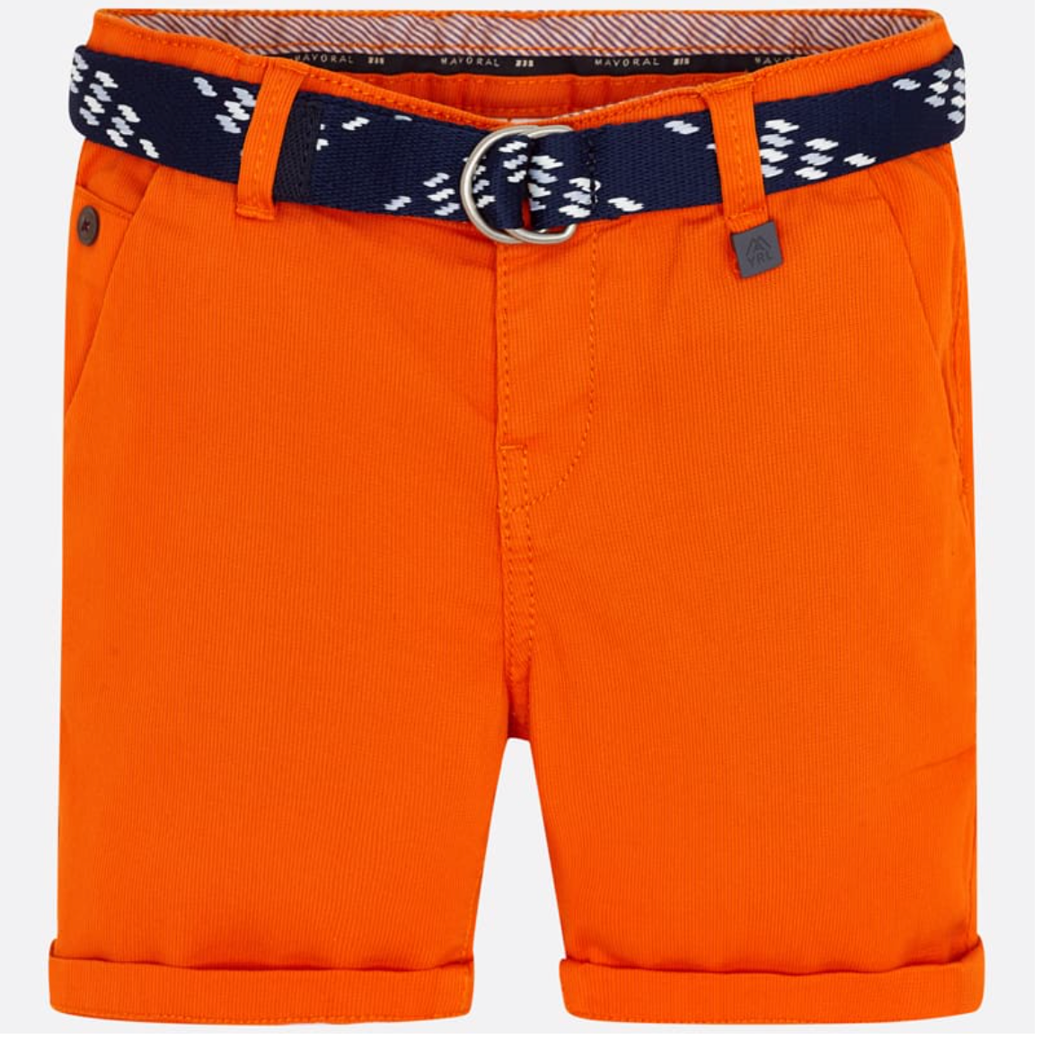 MAYORAL Orange Belted Shorts