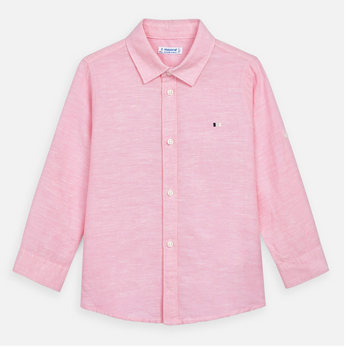 MAYORAL Pink Linen Button Down