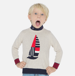 MAYORAL Sail Boat Sweater