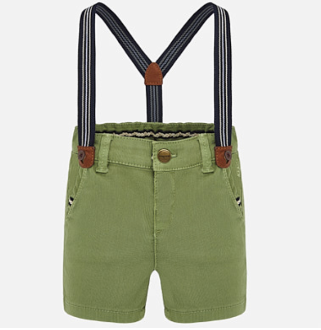 MAYORAL Green Corduroy Shorts