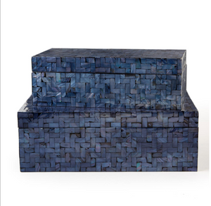 Small Navy Tile Box