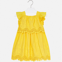 MAYORAL  Yellow Sun Dress with Lace