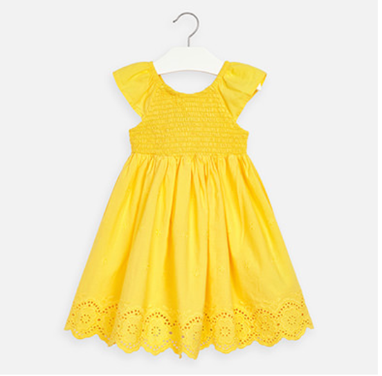 Mayoral Yellow Lace dress