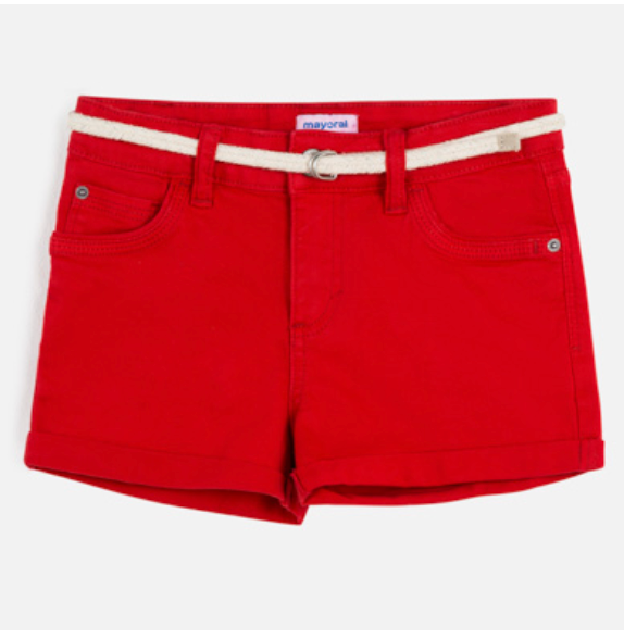 MAYORAL Red Shorts With Belt