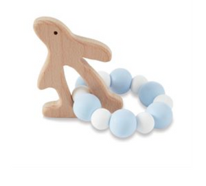 MUD PIE Natural Wood & Silicone Teether