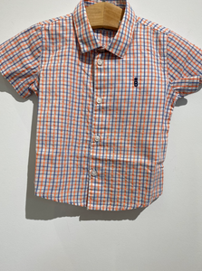 MAYORAL Stripped Orange and Blue Button Down