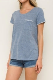 Hem-Thread Picot Edge Tee