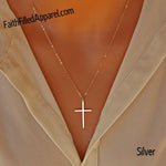 """Take Up Your Cross"" - Small Gold or Silver Cross Necklace"