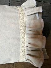 Decorative pillow case beige NATURAL LOOK II with ruffle 35x60cm