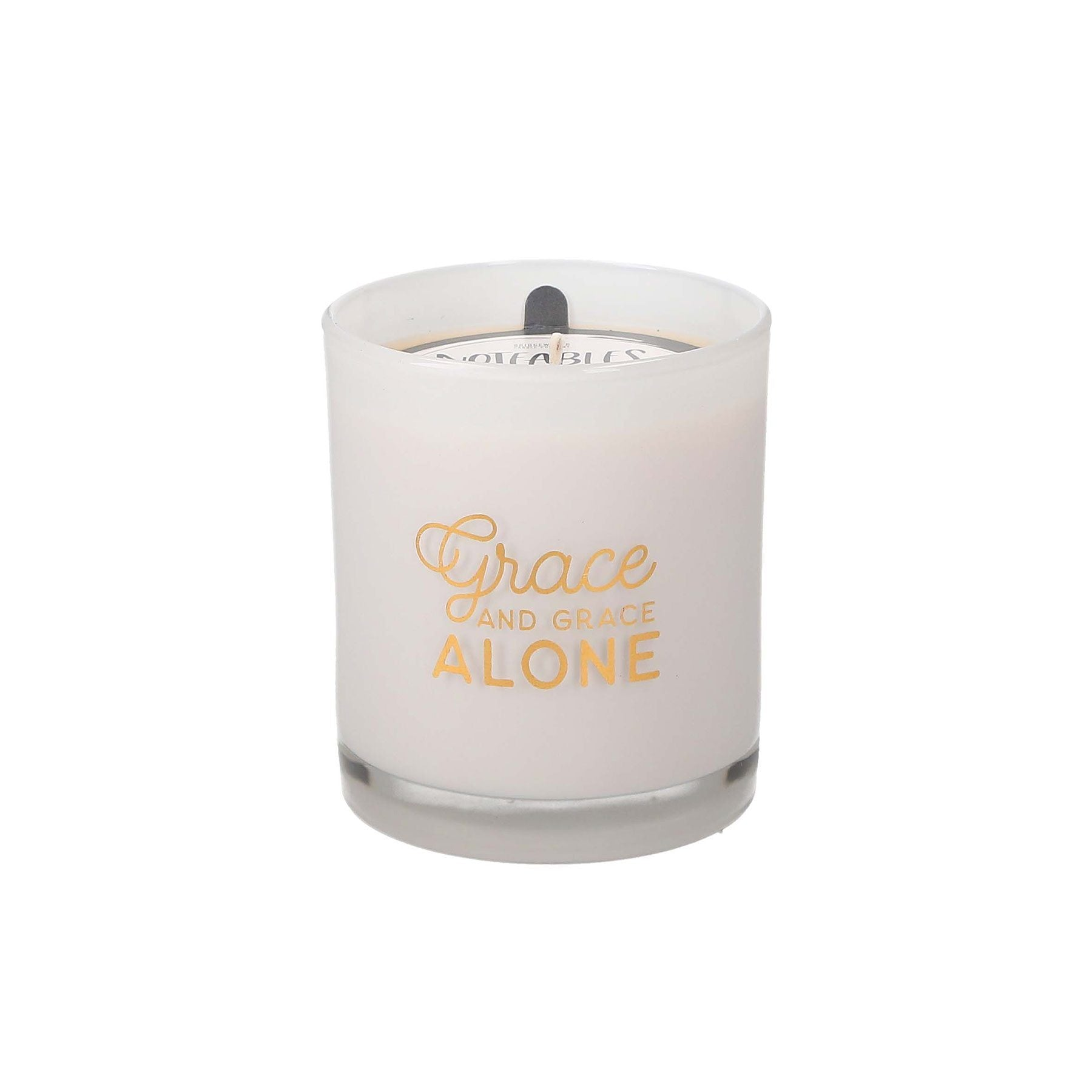 "Noteables Candle ""Grace Alone"" -Sweet Grace"