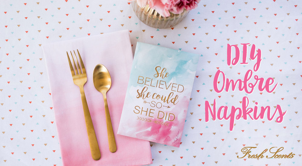 She Believed DIY Ombre Napkins