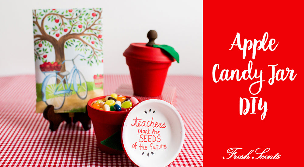 DIY Teacher Gift: Apple Candy Jar