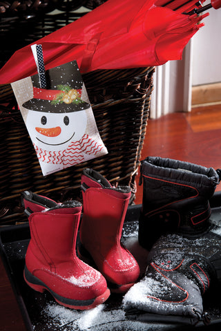 crafty snowman with boots