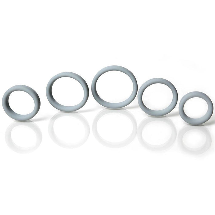 Boneyard Silicone Ring 5 Pcs Kit Gray