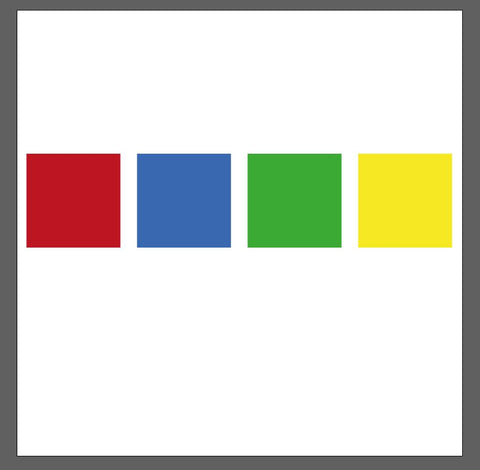 Four different colored squares