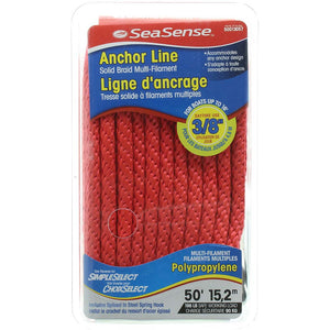 Solid Braid Multi-Filament Polypropylene Anchor Line