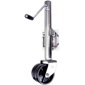 Zinc Plated Trailer Jack - Dual Wheel | 1500 lb