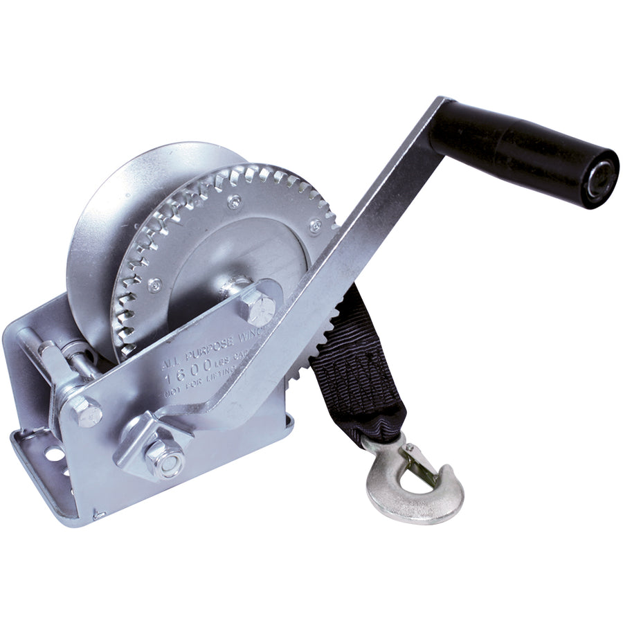 Zinc Plated Trailer Winch | 1000 lb & 1600 lb