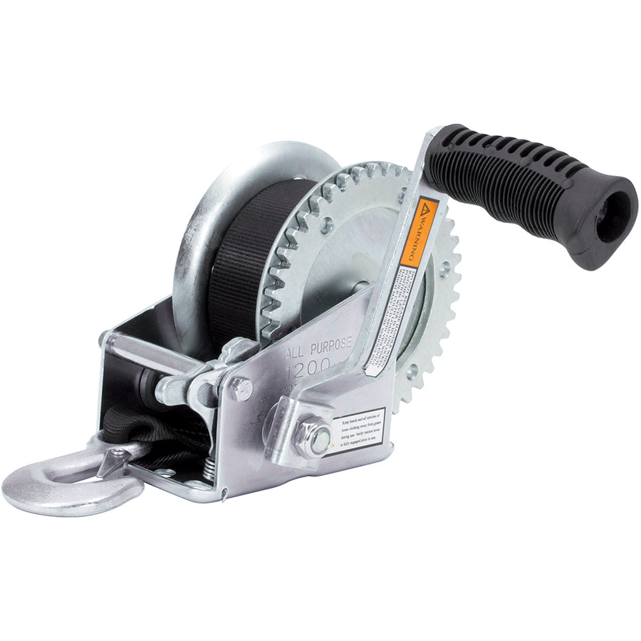 Zinc Plated Trailer Winch | 1200 lb