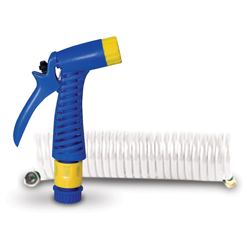 Coiled Hose with Nozzle