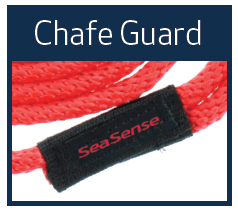 Multi-Filament Pre-Spliced Solid Braid Dock Line with Chafe Guard
