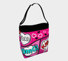 Bubblelingo Day Tote Bag  Comic Speech Bubbles  Pink