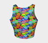 Multicolored Speech Bubble Expressions  Athletic Crop Top