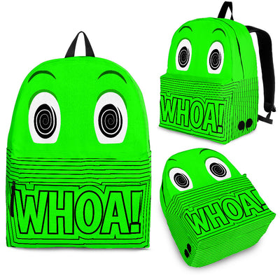 "Bubblelingo ""Whoa"" Green Backpack"