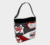 Bubblelingo Stretchy Day Tote Bag - Comic print - Red & Gray
