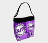 Comic Speech Bubbles Stretchy Day Tote in Purple