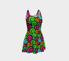 Flare Dress - Multicolored Swirl Pattern