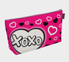 XOXO Comic Speech Bubble Travel Bag with Hearts in Pink