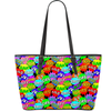 Vegan Leather Tote - Multicolored Speech Bubble Expressions