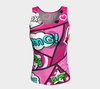 Bubblelingo Fitted Jersey Tank Top Comic Print Long Length