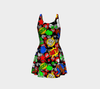 """Hi"" Multicomic Speech Bubbles Flare Dress -"