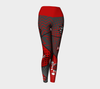 Spanish Comic Speech Bubbles iPerformance Fit Yoga Leggings Red & Dark Gra