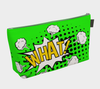 """WHAT!"" Comic Speech Bubble with Clouds Travel Bag in Green"